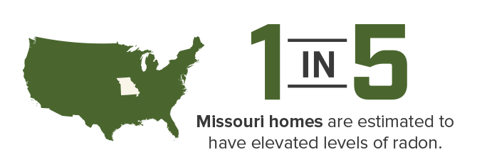 1 in 5 Missouri homes are estimated to have radon